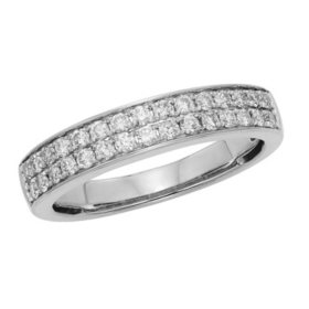 0.50 CT. T.W. Diamond Band Set in 14K Gold