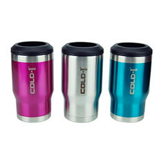 Cold-1 Stainless Steel Bottle/Can Cooler, 3-pack (Assorted Colors)