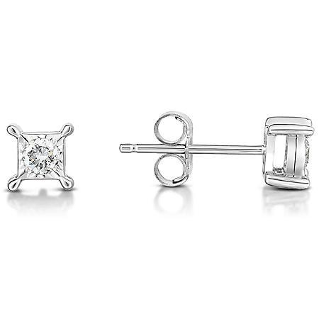 f3ec7f1521e8a 13 ct. t.w. Diamond Earring in 14K White Gold - Sam's Club