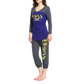 NCAA Ladies Crop Pant and 3/4 Sleeve Top Set