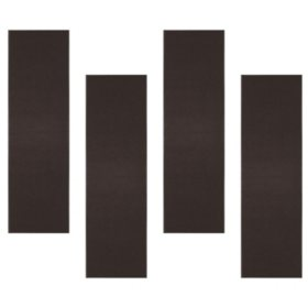 Chevron Rib Indoor Entrance Mat 3+1 Bundle, Dark Brown (3' x 10')