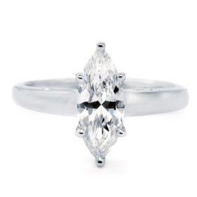 Premier Diamond Collection 1.51 CT. Marquise Cut Diamond Solitaire Ring in 18K White Gold - GIA & IGI (E, SI2)