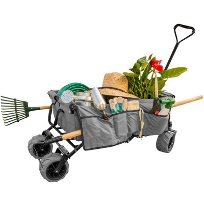 Folding Garden Wagon Cart (Various Colors)