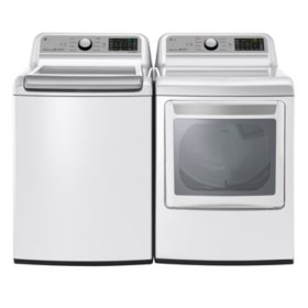 LG - WT7200CW and DLE7200WE Laundry Suite, Electric