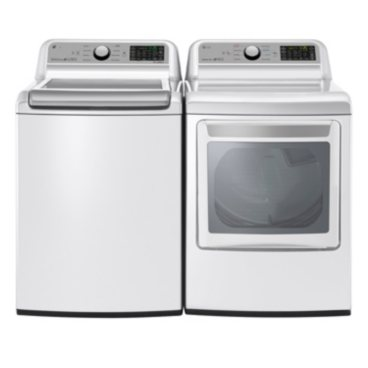 LG WT7200CW and DLE7200WE Laundry Suite, Electric
