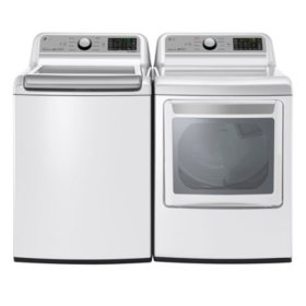 LG - WT7200CW and DLG7201WE Laundry Suite, Gas