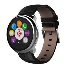 Mykronoz Zeround Premium Watch (Silver/Black Leather)