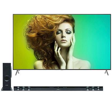 "Sharp 75"" Class 4K HDR Smart TV - LC-75N620CU + Sharp 2.1 Bluetooth Sound Bar"