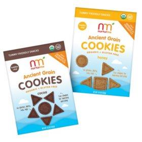 NurturMe Organic Ancient Grain Cookie - Pick 4 Bundle (4.3 oz. packages)