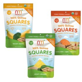 NurturMe Quinoa Square Organic Snacks - Pick 4 Bundle (1.76 oz. packages)