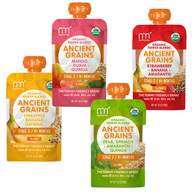 NurturMe Organic Ancient Grains Stage 2 Power Blends - Pick 3 Bundle (3.5 oz., 18 pk. total)