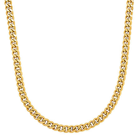 """24"""" 180 Flat Curb Link Chain in 14K Yellow Gold"""