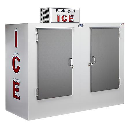 Leer Outdoor Model 85 Upright Ice Merchandiser with Double Solid Doors- w. Auto Defrost (85 cu.ft.)