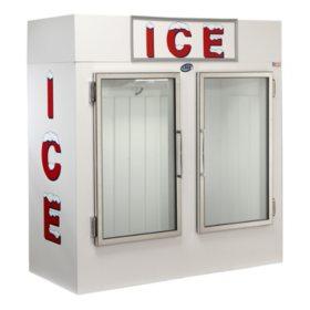 Leer Indoor Model 60 Upright Ice Merchandiser with Double Glass Doors- w. Auto Defrost (60 cu.ft.)