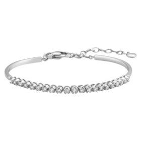 S Collection 0.75 CT. T. W. Diamond Bangle Bar Bracelet in 14K White Gold
