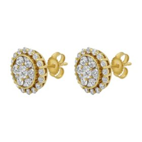 S Collection 1.5 CT. T.W. Stud Earrings in 14K Yellow Gold