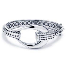 Sterling Silver Bali Buckle Bracelet