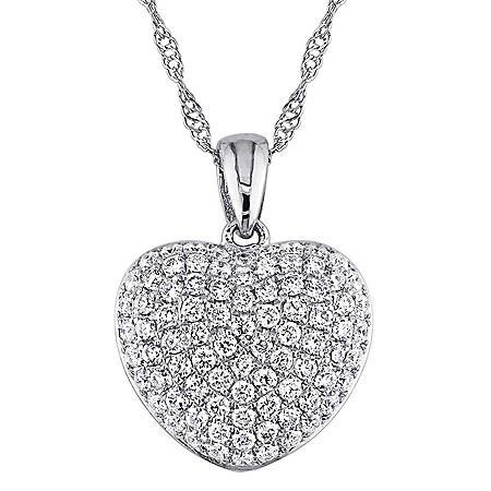 Allura 0.51 CT. Diamond Heart Pendant in 14K Gold
