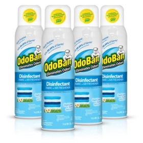 Odoban Disinfectant Fabric and Air Freshener Spray, Fresh Linen Scent (14 oz., 4 pk.)