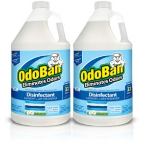 OdoBan Odor Eliminator and Disinfectant Concentrate, Fresh Linen (128 oz., 2 ct.)