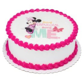 Remarkable Members Mark 10 Minnie Mouse Round Cake Sams Club Funny Birthday Cards Online Alyptdamsfinfo