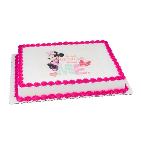 Member's Mark 1/2 Sheet Minnie Mouse Cake
