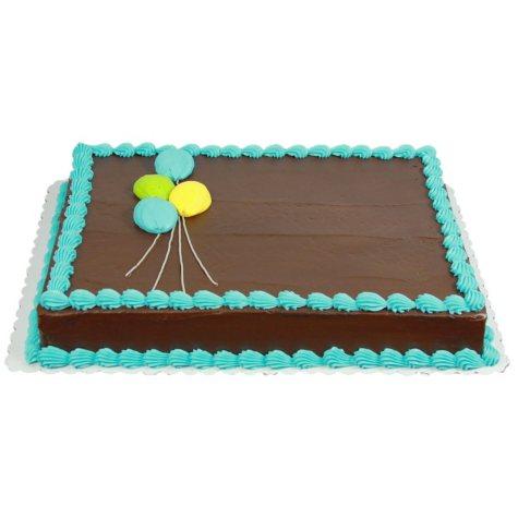 Member's Mark 1/2 Sheet Pastel Balloon Cake