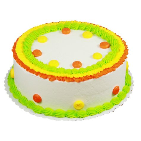 "Member's Mark 10"" Bright Ruffle and Polka Dot Round Cake"
