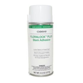 Floralock Plus Stem Adhesive, 4.5 oz. Spray Can (choose 1 or 12 cans)