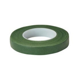 "Floratape Stem Wrap, 1/2"" Green - 90 Feet Per Roll (choose 12 or 288 rolls)"