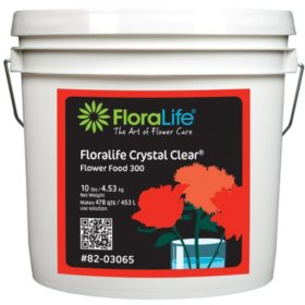FloraLife Crystal Clear Fresh Cut Flower Food 300, Powder (Choose 10, 20 or 30 lb. Pail)