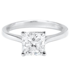 Premier Diamond Collection 2.02 CT. Radiant Diamond Solitaire Ring in Platinum - GIA-IGI (F, VS1)