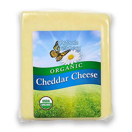 Organic Creamery Cheddar Cheese (priced per pound)