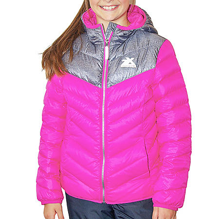 4ebf66785 ZeroXposur Girls' Down Puffer Jacket - Sam's Club
