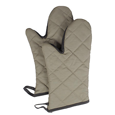 RITZ Flame-Resistant Pyrotex Oven Mitt, Beige (Choose Your Size)