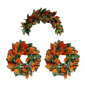 Magnolia Decorator Box (2 Fresh Wreaths & 1 Swag)