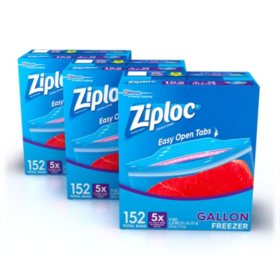 Ziploc Easy Open Tabs Freezer Gallon Bags (456 ct.)