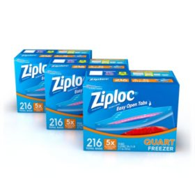Ziploc Easy Open Tabs Freezer Quart Bags (648 ct.)