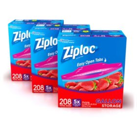 Ziploc Easy Open Tabs Storage Gallon Bags (624 ct.)