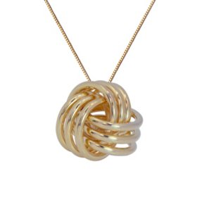 Love Knot Pendant in 14K Yellow Gold