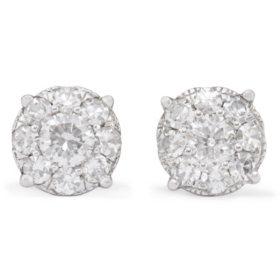 2.00 CT. T.W. Diamond Composite Earring Set in 14K White Gold