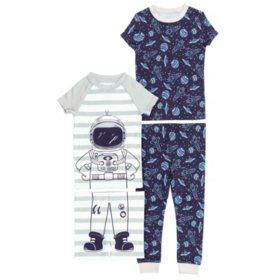 1bdf089e Member's Mark Boy's 4 Piece Pack Snug Fit Pajamas - Sam's Club