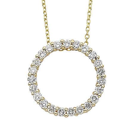 0.50 ct. t.w. Diamond Circle Pendant in 14K Gold