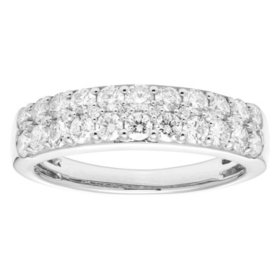 1.0 CT. T.W. Three Row Diamond Band Set in 14K Gold