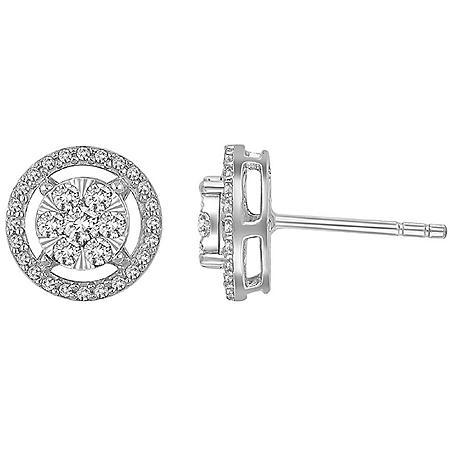 0.46 CT. T.W. Diamond Earrings in 14K White Gold
