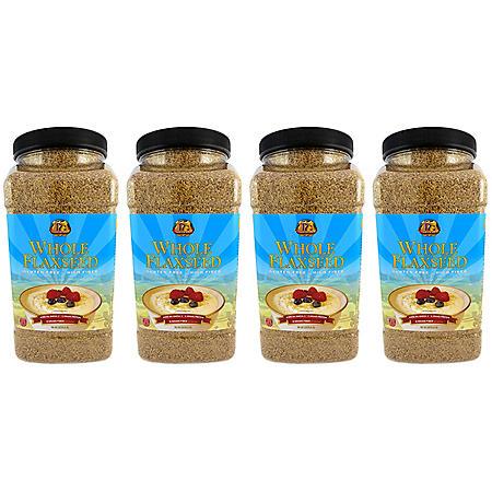 Premium Gold Whole Flaxseed (96 oz. ea., 4 ct. case)