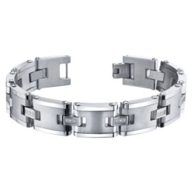 Spartan .09 CT. T.W. Diamond Stainless Steel Bracelet