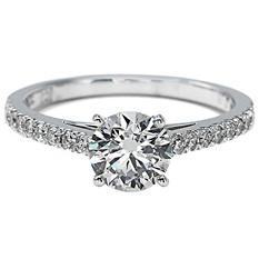 Premier Diamond Collection 1.41 CT. T.W. Round Brilliant Cut Diamond Ring in 18K White Gold - GIA & IGI (G, SI2)