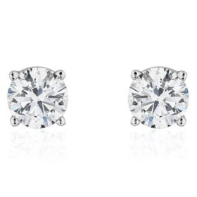 Superior Quality Collection 1.0 CT. T.W. Round Diamond Studs in 18K Gold (I, VS2)