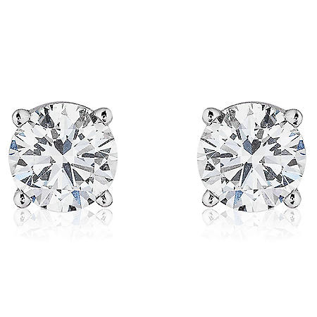 Superior Quality Collection 2 CT. T.W. Round Diamond Studs in 18K Gold (I, VS2)